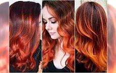 Trend w koloryzacji na wiosnę: płomienny rudy balejaż. Wypróbujcie miks najpiękniejszych odcieni!