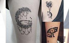 Tatuaż z kotem - urocze, piękne wzory dla wielbicielek kotów