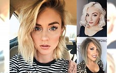 Modne fryzury średnie - pomysłowe cięcia dla blondynek!