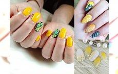 Żółte zdobienia paznokci na lato 2018 - galeria najpiękniejszych słonecznych stylizacji