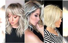 Modne fryzury średnie: cieniowane, blunt bob, z grzywką. Idealne dla blondynek!
