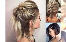 Fryzury z warkoczem dla półkrótkich włosów