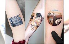 HOT TREND! Tatuaże miniatury słynnych obrazów van Gogha, Moneta, Klimta i innych artystów
