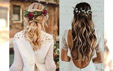 Top 23 fryzur ślubnych z kwiatami, które Cie zachwycą!