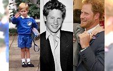 Książę Harry obchodzi 34. urodziny! Przypominamy, jak się zmieniał młodszy syn księżnej Diany. Wzruszające zdjęcia!