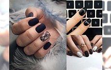 Czarny manicure nie musi być nudny - galeria pięknych stylizacji 2018