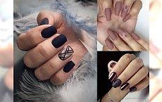 Matowy manicure - galeria stylowych pomysłów