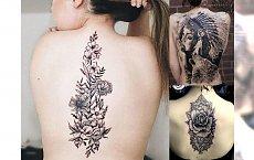 Zmysłowe tatuaże na plecy i kark - galeria kobiecych wzorów