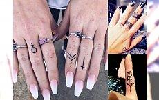Tatuaże w okolicy palca - gorący hit w sztuce tatuażu! [GALERIA]