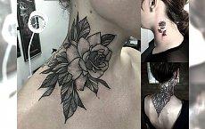 Tatuaż w okolicy szyi - 23 ultrakobiece wzory, które skradną Ci serce
