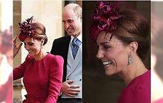 Ślub księżniczki Eugenii: Księżna Kate zadała szyku w fuksjowej sukience. Ale najlepsze są jej rękawy!
