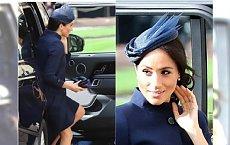 Ślub księżniczki Eugenii: Meghan Markle w granatowej sukience swojego ulubionego projektanta. Nie za SKROMNIE?!