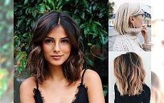 Średnia długość włosów - 20 propozycji na kobiecą fryzurę