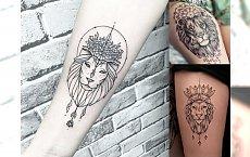20 pomysłów na tatuaż z motywem lwa - galeria kobiecych wzorów
