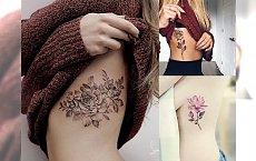 Tatuaż na żebrach - galeria najpiękniejszych kobiecych wzorów