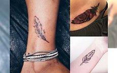 Tatuaż piórko - najpiękniejsze propozycje z sieci