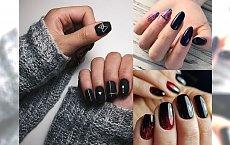 Czarny manicure - galeria modnych i stylowych zdobień
