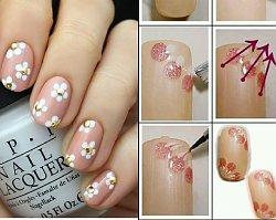 TOP 15 super łatwych wzorów z kwiatami. Wykonaj zachwycający manicure w nie więcej niż 10 minut!