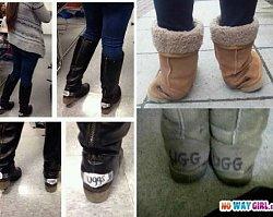 Dlaczego?! Te dziewczyny nie wiedzą kiedy przestać! Ich buty UGG to porażka na maksa!
