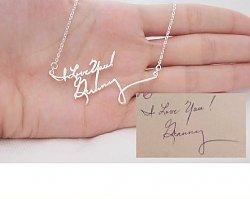 Idealny prezent na Walentynki- bransoletka z charakterem Twojego pisma