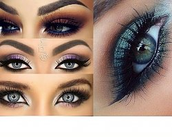 Inspiracje wieczorowego makijażu dla niebieskookich piękności