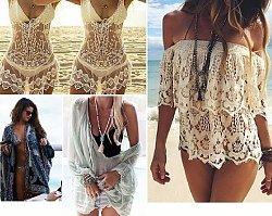Boho cover ups - stylowe nakrycia na plażę w stylu boho
