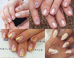Skuś się na mega elegancję! TOP 20 manicure w kolorze nude i złota, które sprawdzą się na każdą okazję