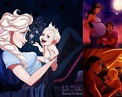 Jak wyglądałyby gwiazdy Disney'a jako matki? Jak mogły potoczyć się ich losy? W końcu możemy to zobaczyć!