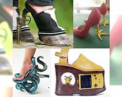 PORAŻKA! Najdziwniejsze buty na świecie - czy w tym w ogóle da się chodzić?
