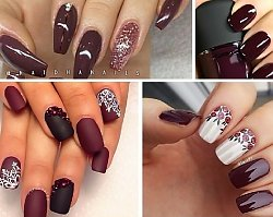Burgundowy manicure - luksusowa barwa, którą kochamy jesienią