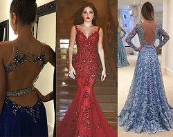Długa suknia z odkrytymi plecami. Idealna na studniówkę 2017