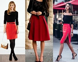 Seksowne stylizacje LAST MINUTE na Walentynki z czerwoną spódnicą w roli głównej!