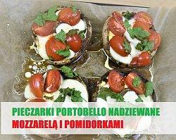 Pieczarki portobello z pomidorem i mozzarellą