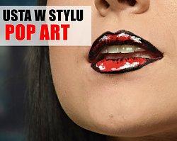 Make up usta w stylu pop art