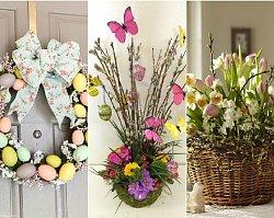 Dekoracje Wielkanocne Diy Stroiki Z Pisankami Gniazdka Kompozycje