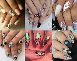 Najpiękniejsze propozycje manicure z geometrycznym motywem na lato - prawdziwe perełki