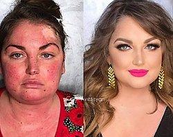 """Oto 16 kobiet """"przed"""" i """"po"""" wykonaniu makijażu. Ciężko uwierzyć, że to NAPRAWDĘ TE SAME osoby! Przesada?"""