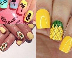 Manicure 2018: Ananas ma paznokciach! Poczuj się jak na wakacjach