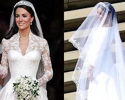 Suknie ślubne Meghan i Kate. Która księżna prezentowała się lepiej?