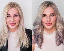 Na ratunek nierówno obciętym włosom & efekt HOLOGRAFICZNY - metamorfoza w salonie Żanety Pawlak