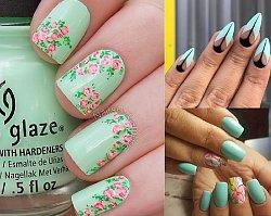 Miętowy manicure znów na topie! 22 pomysły na orzeźwiającą stylizację paznokci