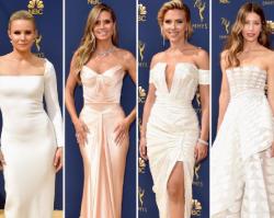 EMMY 2018: od Scarlett Johansson piękniej wyglądała tylko Jessica Biel. Za to Penelope Cruz... niech zmieni stylistę