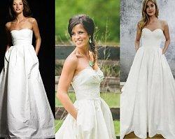 Suknie ślubne z kieszeniami - ostatni KRZYK mody! Jeszcze nigdy panny młode nie były na takim LUZIE!