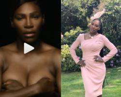 Serena Williams śpiewa topless w ramach kampanii na rzecz walki z rakiem piersi. Zobacz koniecznie!