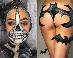 Na Halloween ubierzcie się w sam BROKAT! Piersi jak czaszki, pośladki jak dynie albo nietoperze... PRZERAŻAJĄCO zmysłowe!