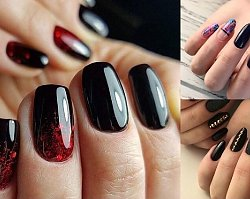 Czarny manicure - galeria eleganckich i stylowych zdobień 2019