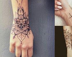 Tatuaż w okolicy nadgarstka - galeria najpiękniejszych wzorów z sieci