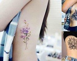 21 propozycji na kobiecy tatuaż w okolicy żeber [GALERIA]