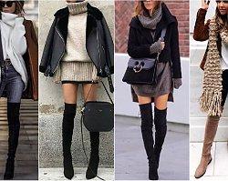 Długie kozaki za kolano to najmodniejsze buty tej zimy. Zobaczcie, do czego je nosić