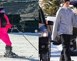 Kendall Jenner i Kim Kardashian na stoku w Aspen robią skandal! Uwaga: niegrzeczne zdjęcia!